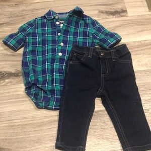 Baby boy outfit size 6-12 Months old